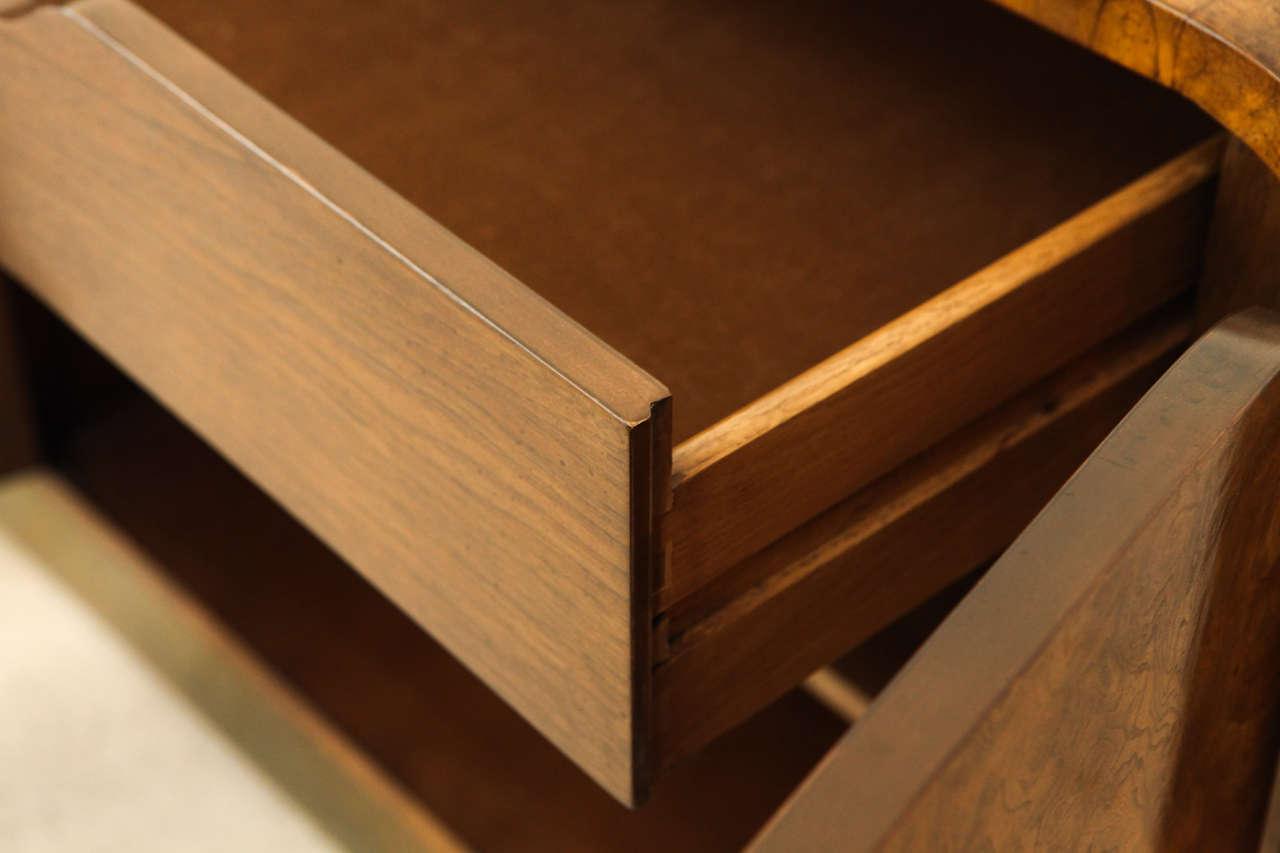 Burled Elmwood Cabinet by Mastercraft For Sale 5
