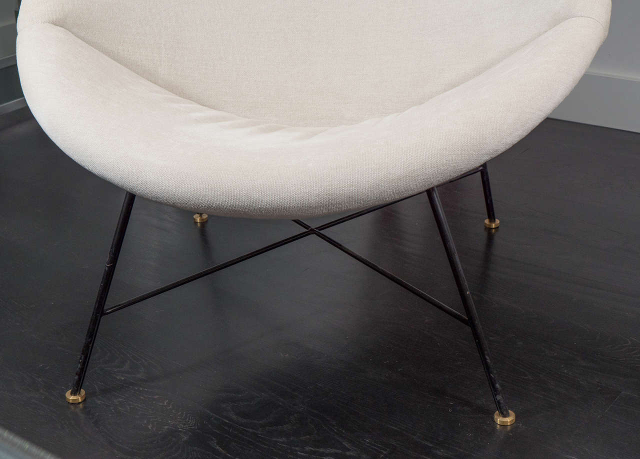 American Pair of Large Crescent Chairs For Sale