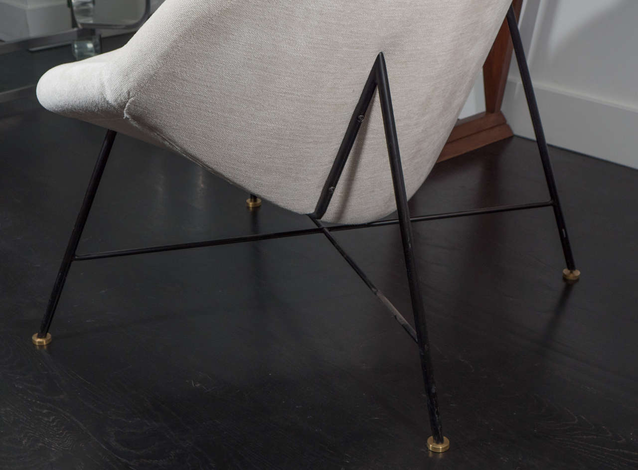 Late 20th Century Pair of Large Crescent Chairs For Sale
