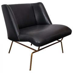 Sculptural Leather Chair