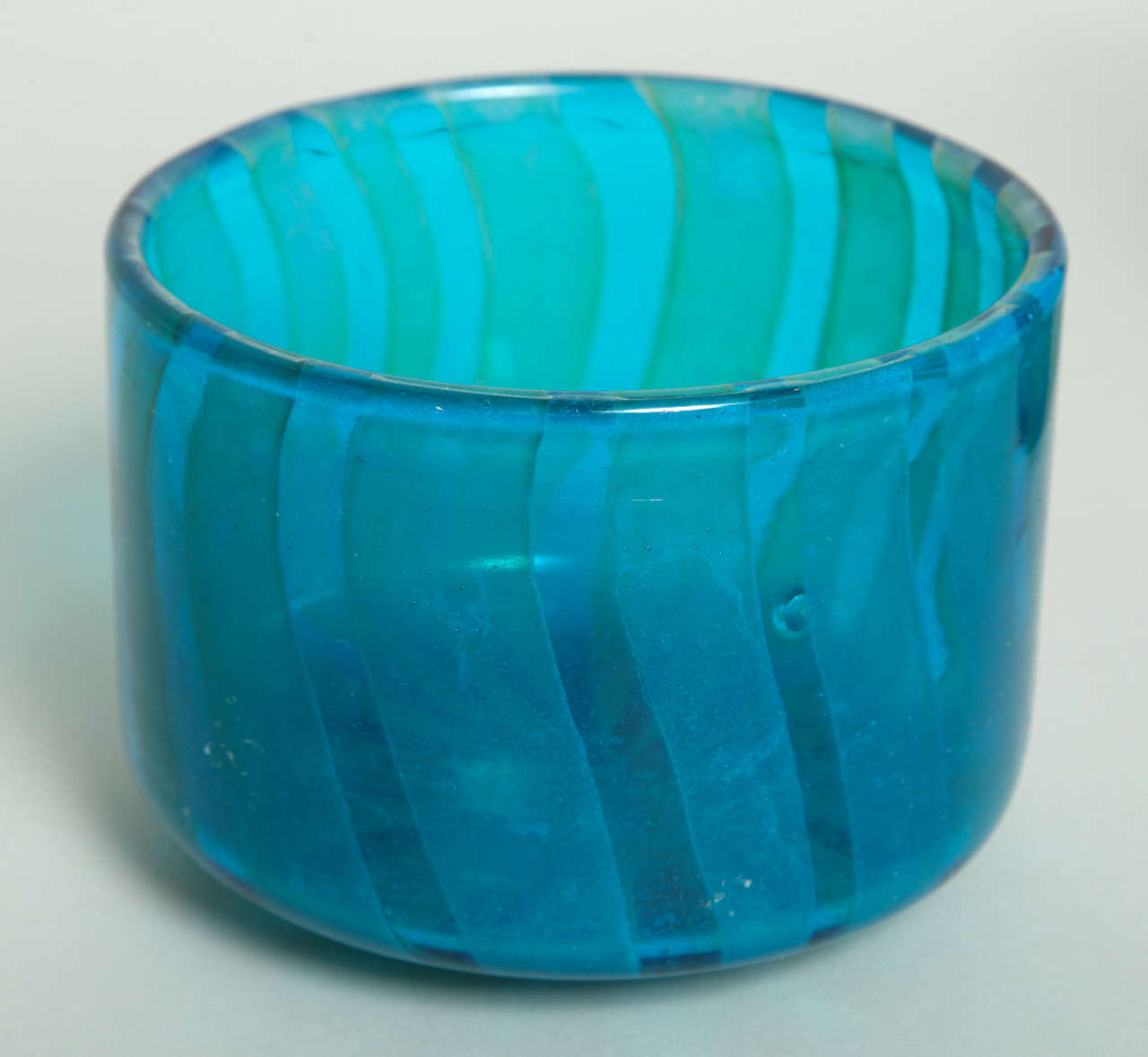 Collection of Blue and Green Studio Glass Vases For Sale 2