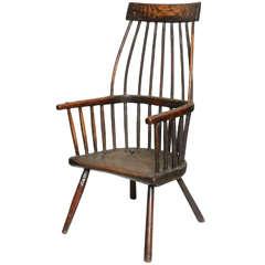 """Early 19th Century """"Lobster Pot"""" Vernacular Windsor Armchair"""