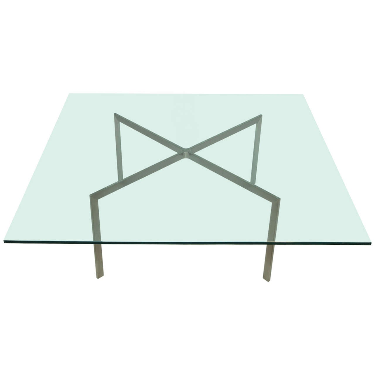 Nicos Zographos Steel and Glass Coffee Table