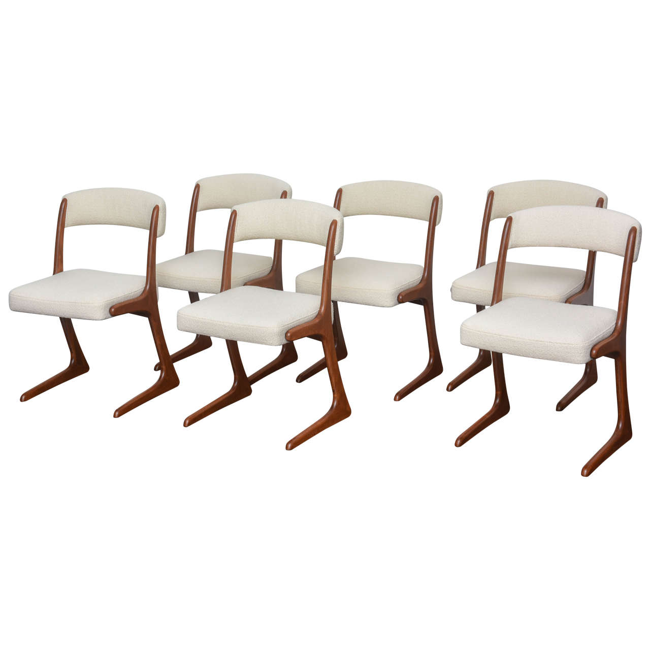 1960s french walnut dining chairs at 1stdibs