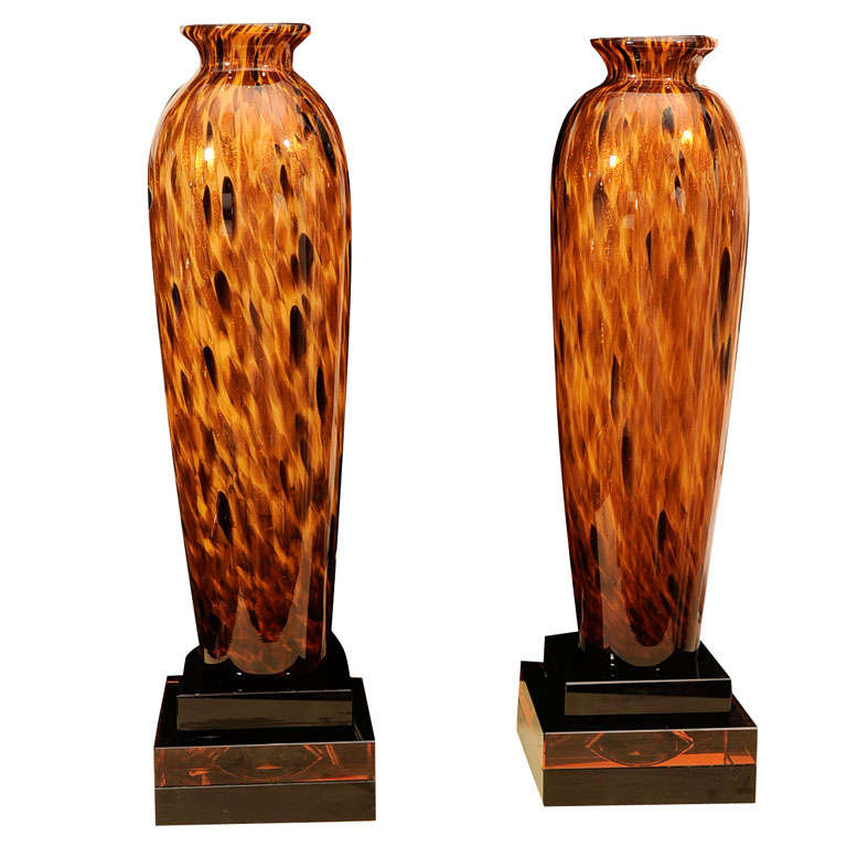this pair of hand blown murano glass table lamps is no longer. Black Bedroom Furniture Sets. Home Design Ideas