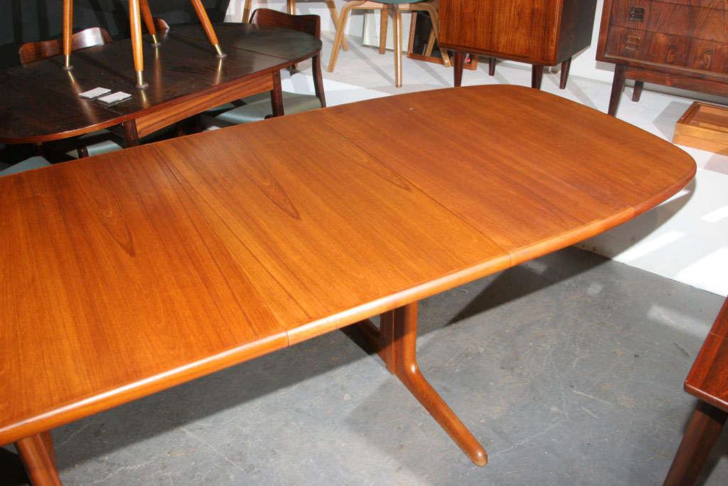Large Danish Modern Oval Teak Dining Table 4