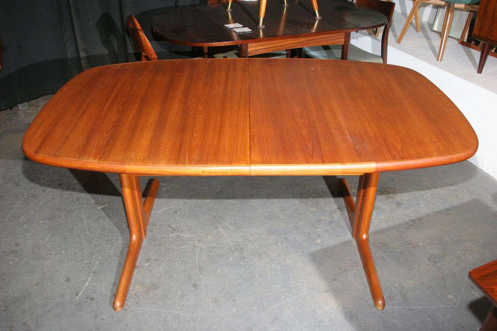Large Danish Modern Oval Teak Dining Table 7