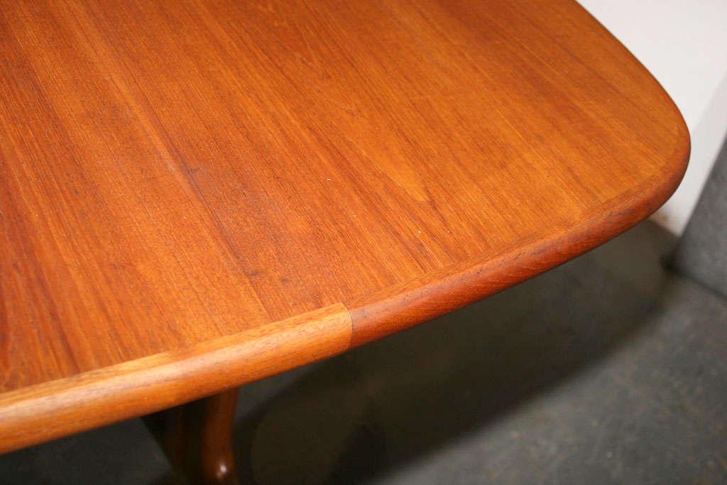Large Danish Modern Oval Teak Dining Table 8