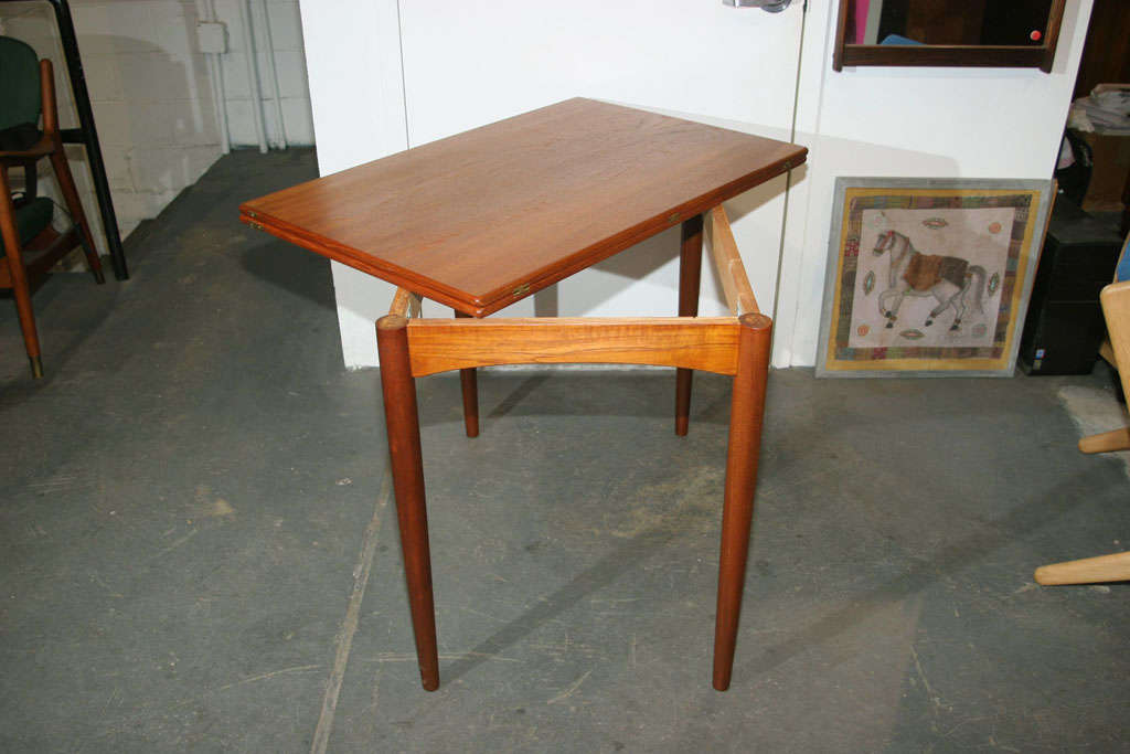 Small Folding Table : Small Folding Teak Dining Table at 1stdibs