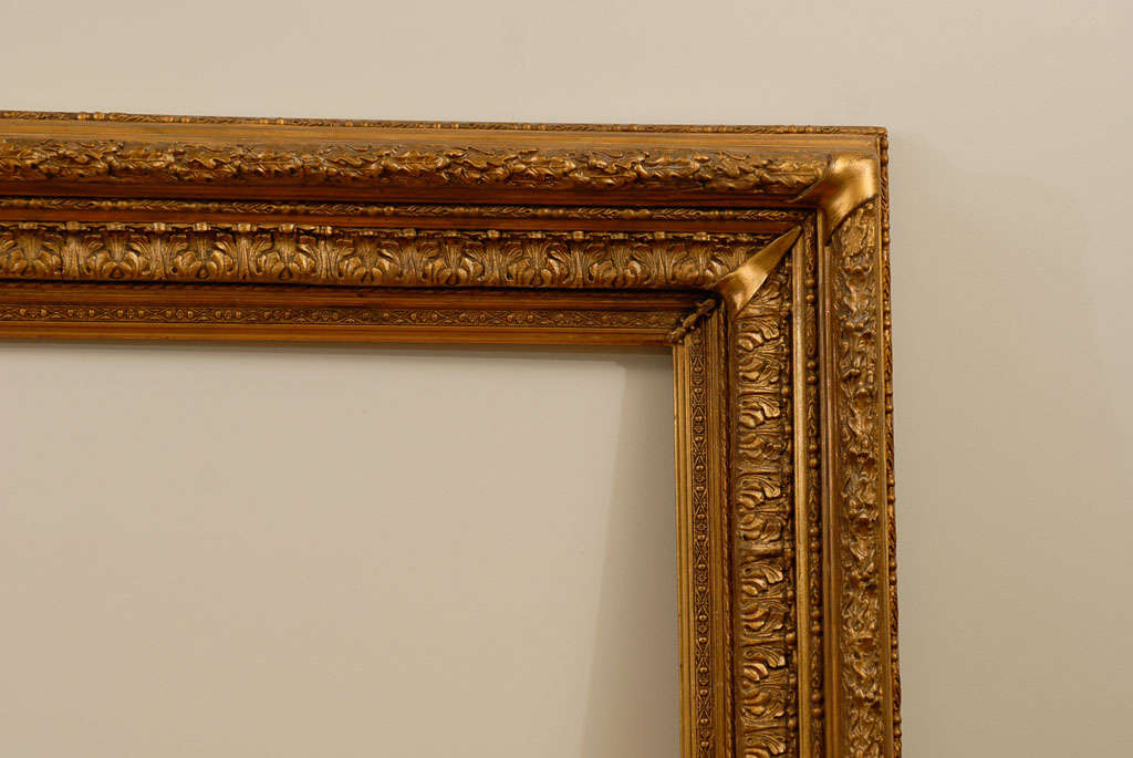 Very large ornate gold leafed antique amercian frame at for Large a frame