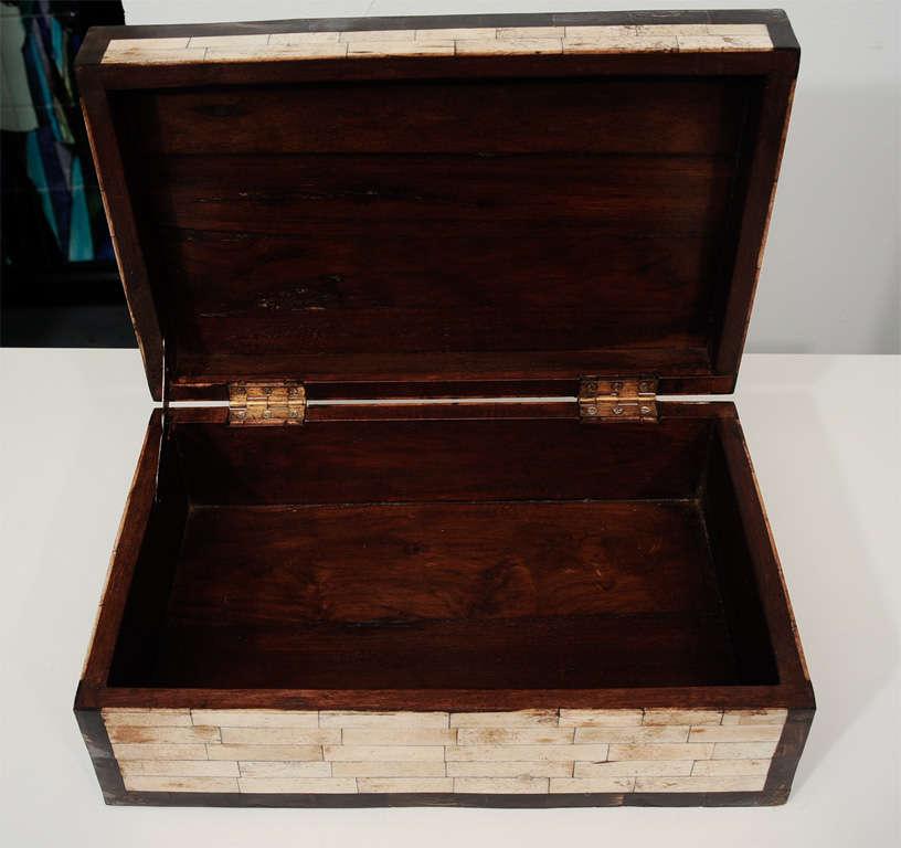 Decorative Bone Boxes : Decorative bone mosaic box at stdibs