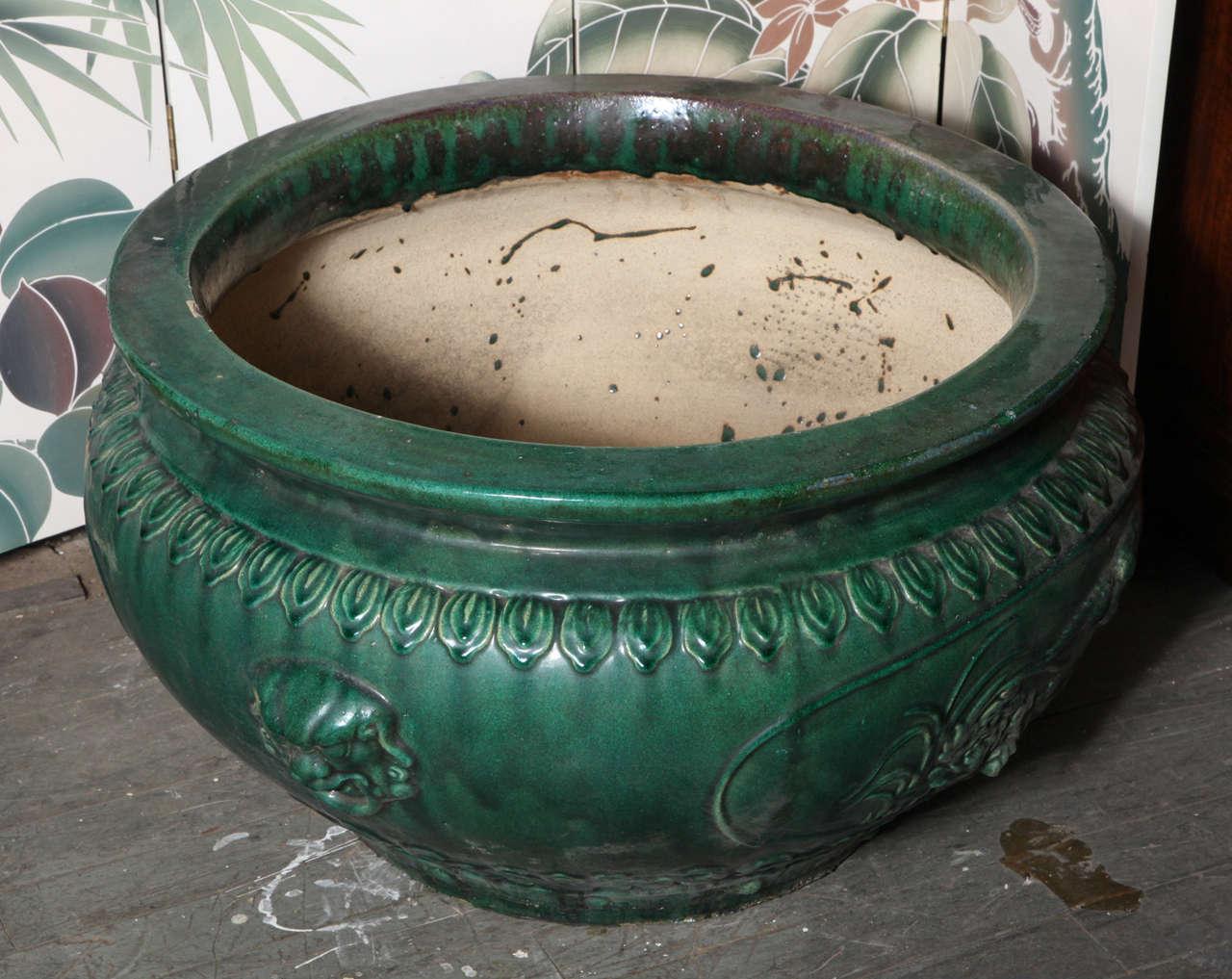 Antique Large Glazed Ceramic Planters, Hunan Province 3 - Antique Large Glazed Ceramic Planters, Hunan Province At 1stdibs