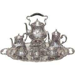 Antique Continental Sterling Silver Tea Service circa 1890-1900