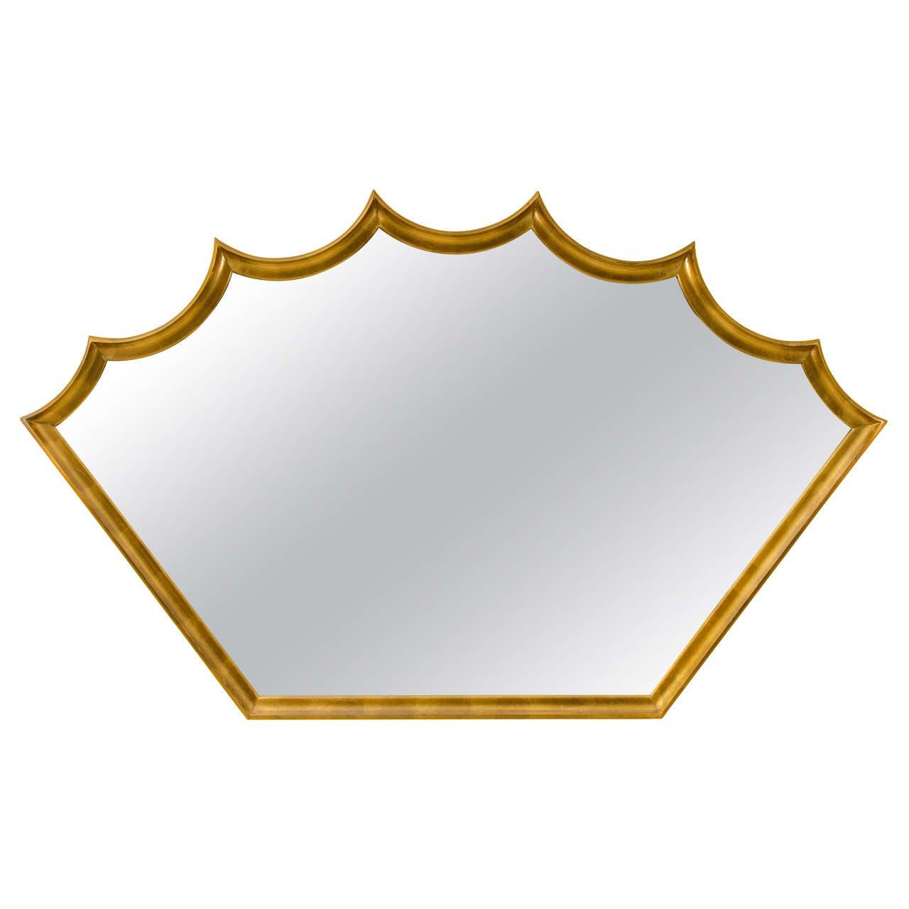 Decorative Modern Gold Leaf Mirror By La Barge At 1stdibs