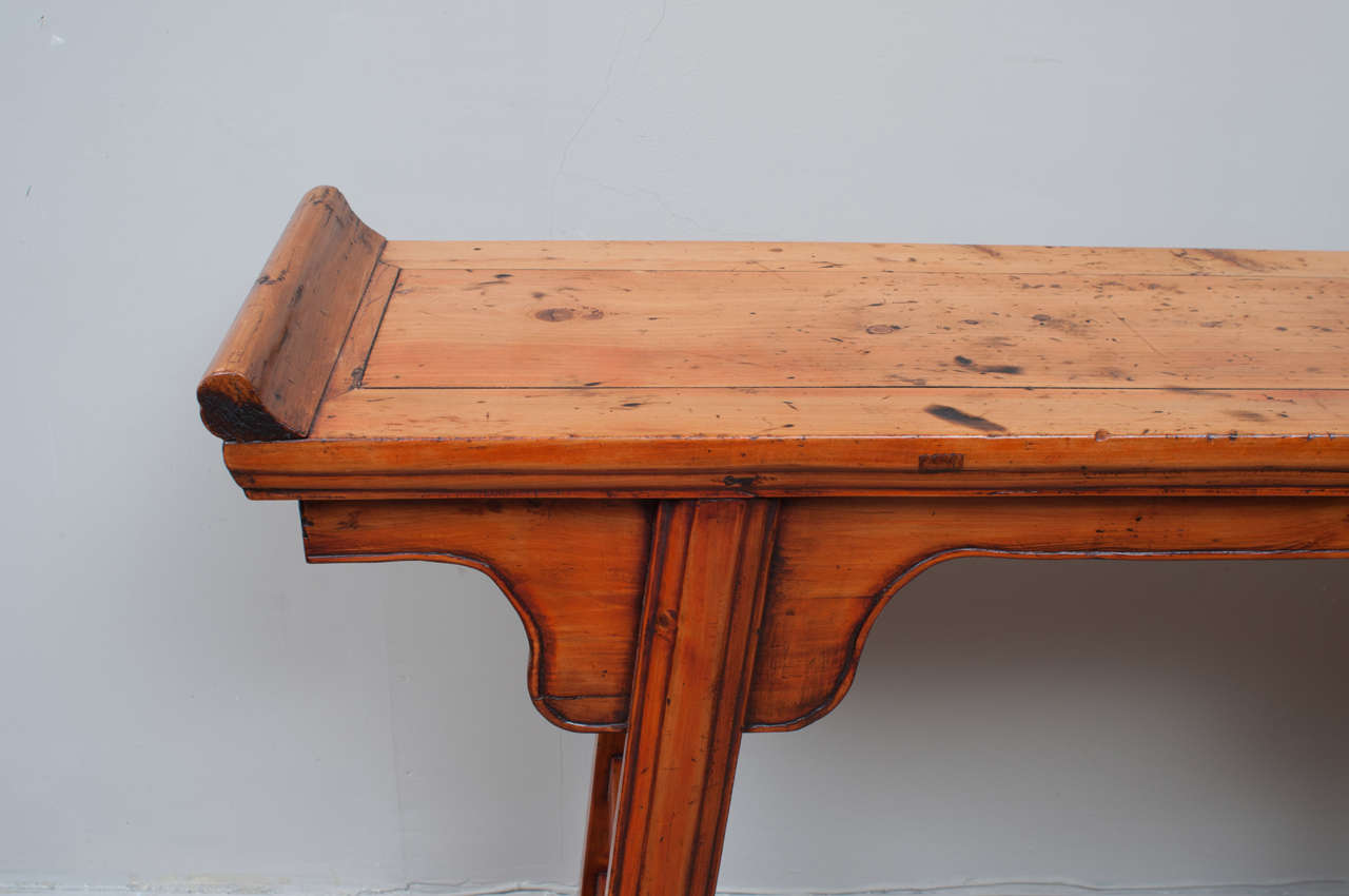 peach wood altar table for sale at 1stdibs