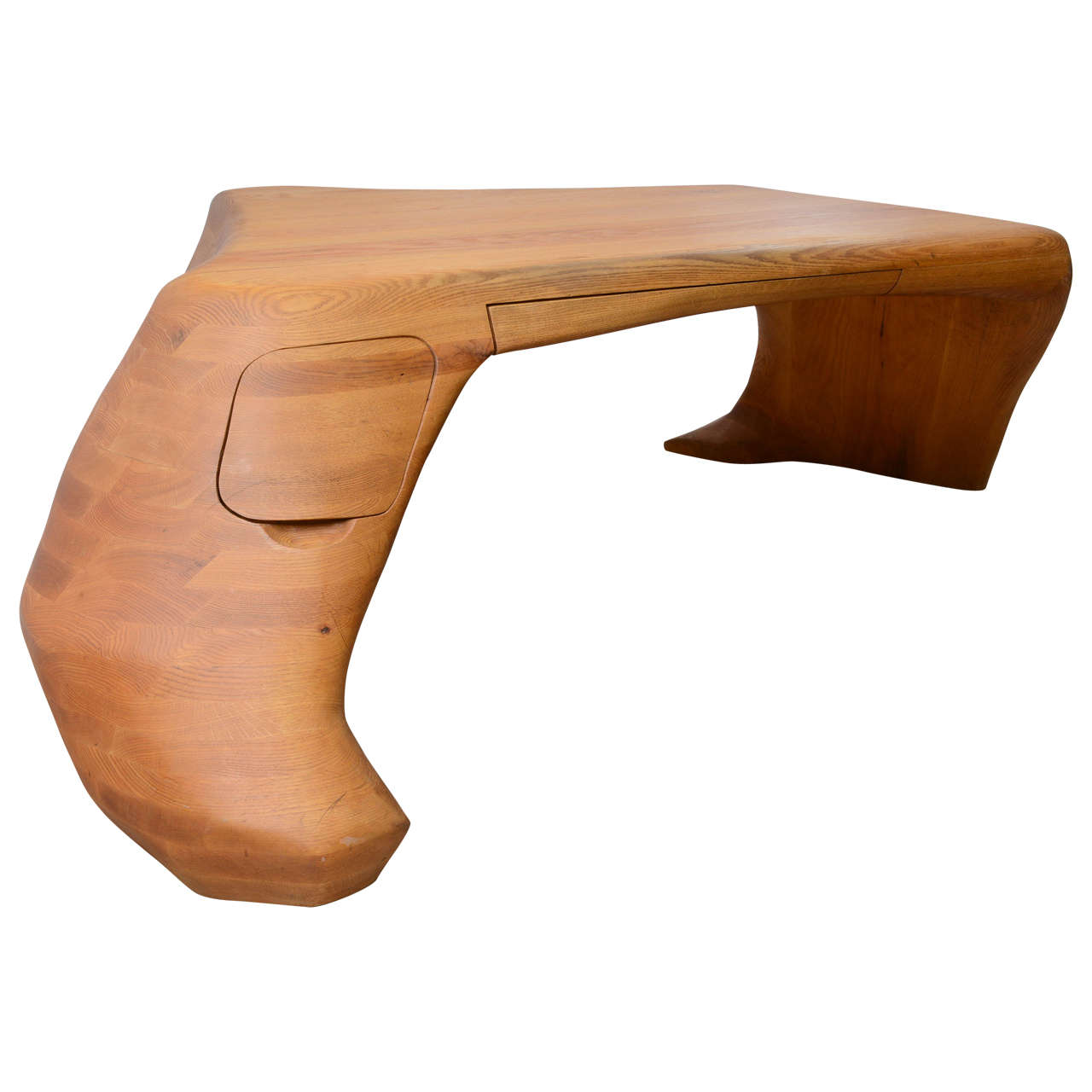spectacular studio craft movement biomorphic desk at 1stdibs