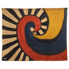 """""""Swirl"""" Tapestry After Alexander Calder"""