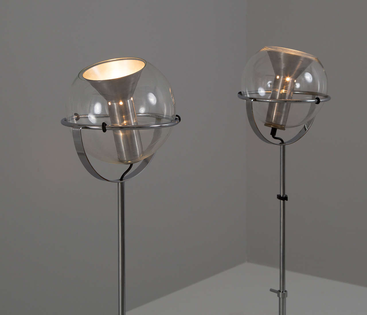 Pair Of Adjustable Dutch Floor Lamps At 1stdibs