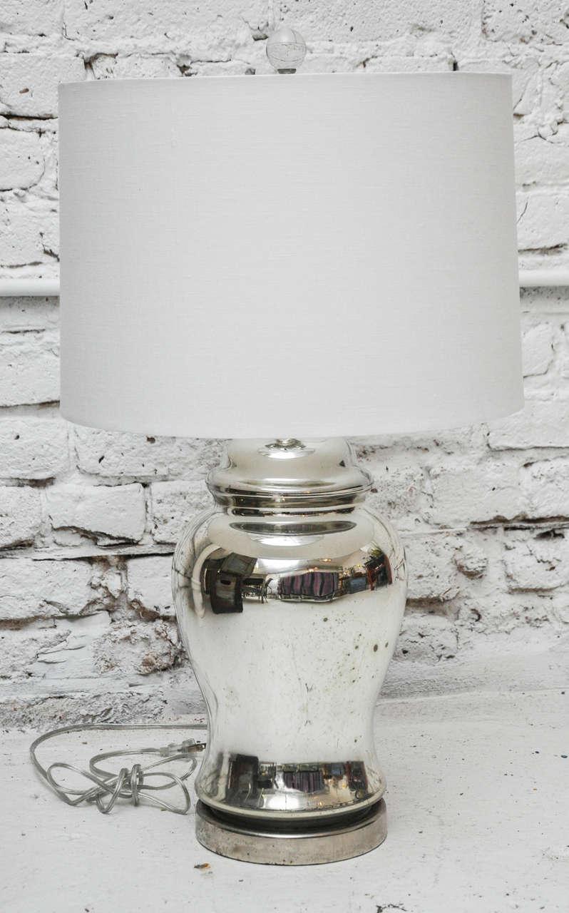 Vintage Mercury Glass Lamp At 1stdibs