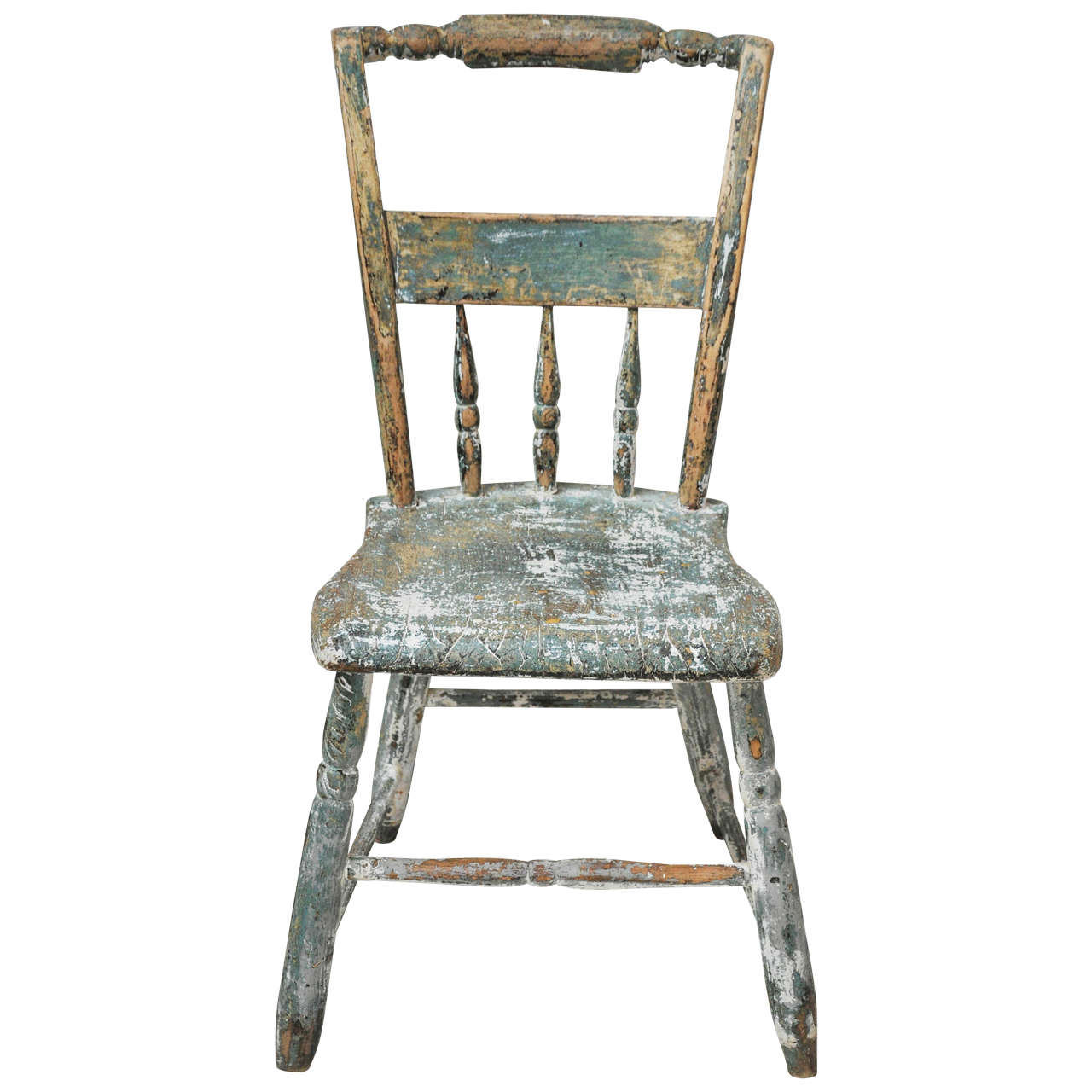antique green wooden chair at 1stdibs