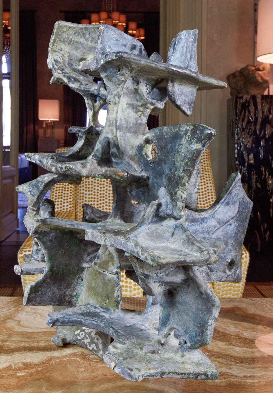 Fired Marcello Fantoni Abstract Sculpture, 1975 For Sale