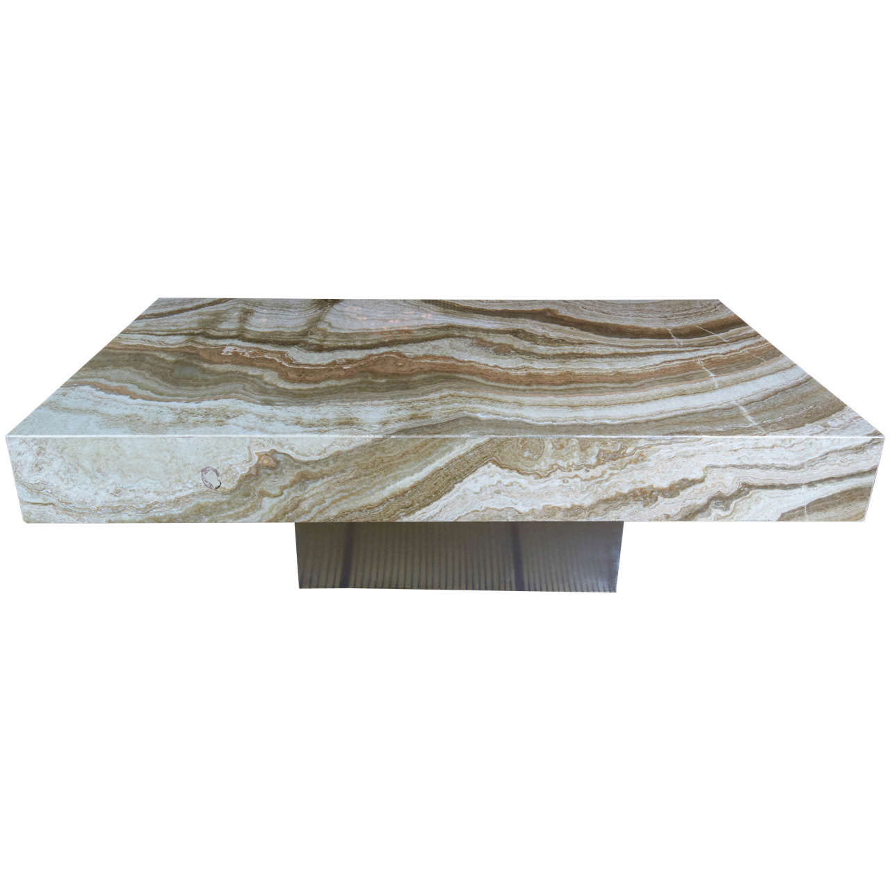 1970s Italian Onyx Coffee Table at 1stdibs