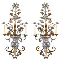 Pair of French Gilt Metal Sconces, circa 1930s