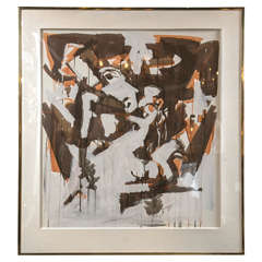 Signed and Dated Abstract Painting, circa 1970