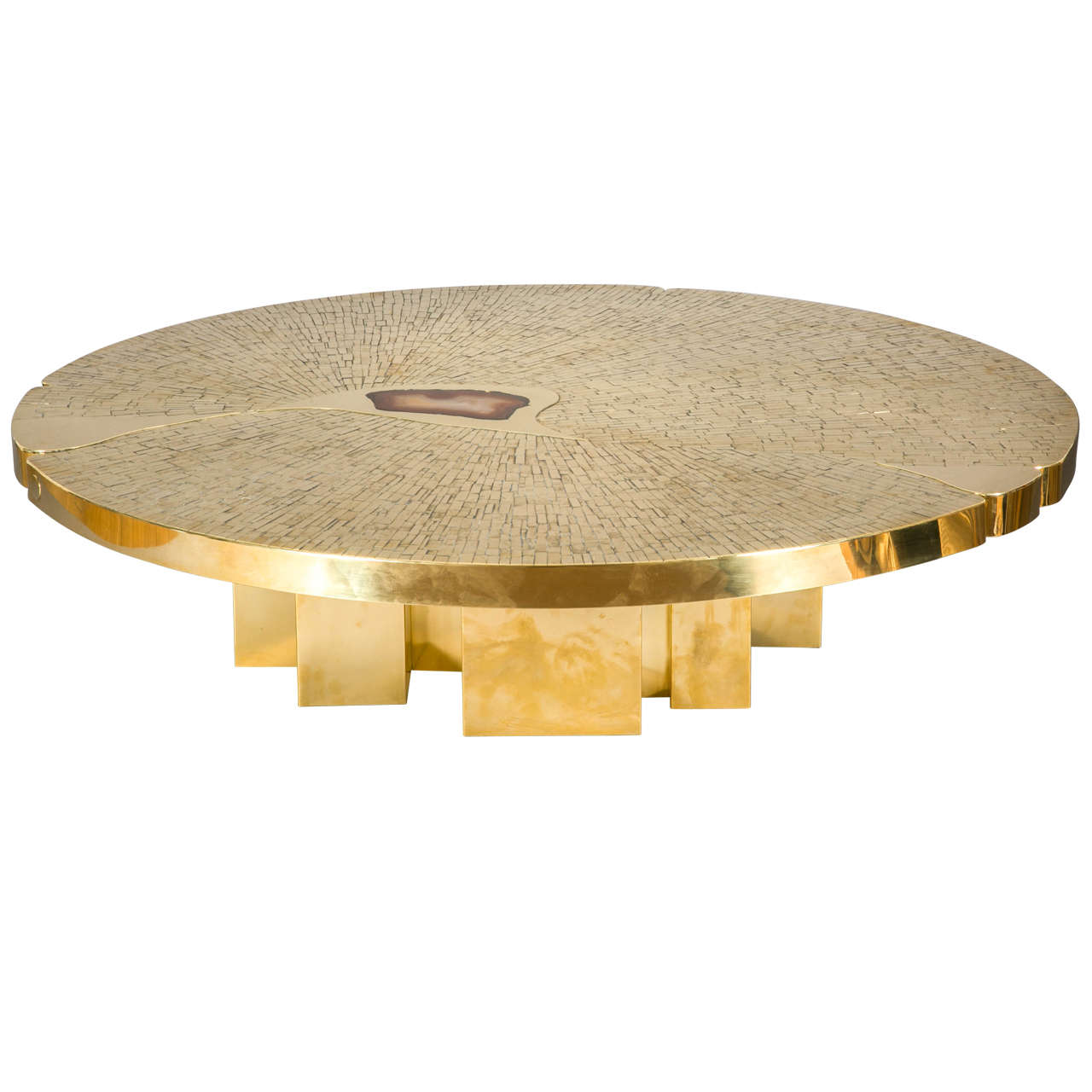 Circular Coffee Table, Circa 1970 By Jean Claude Dresse For Sale