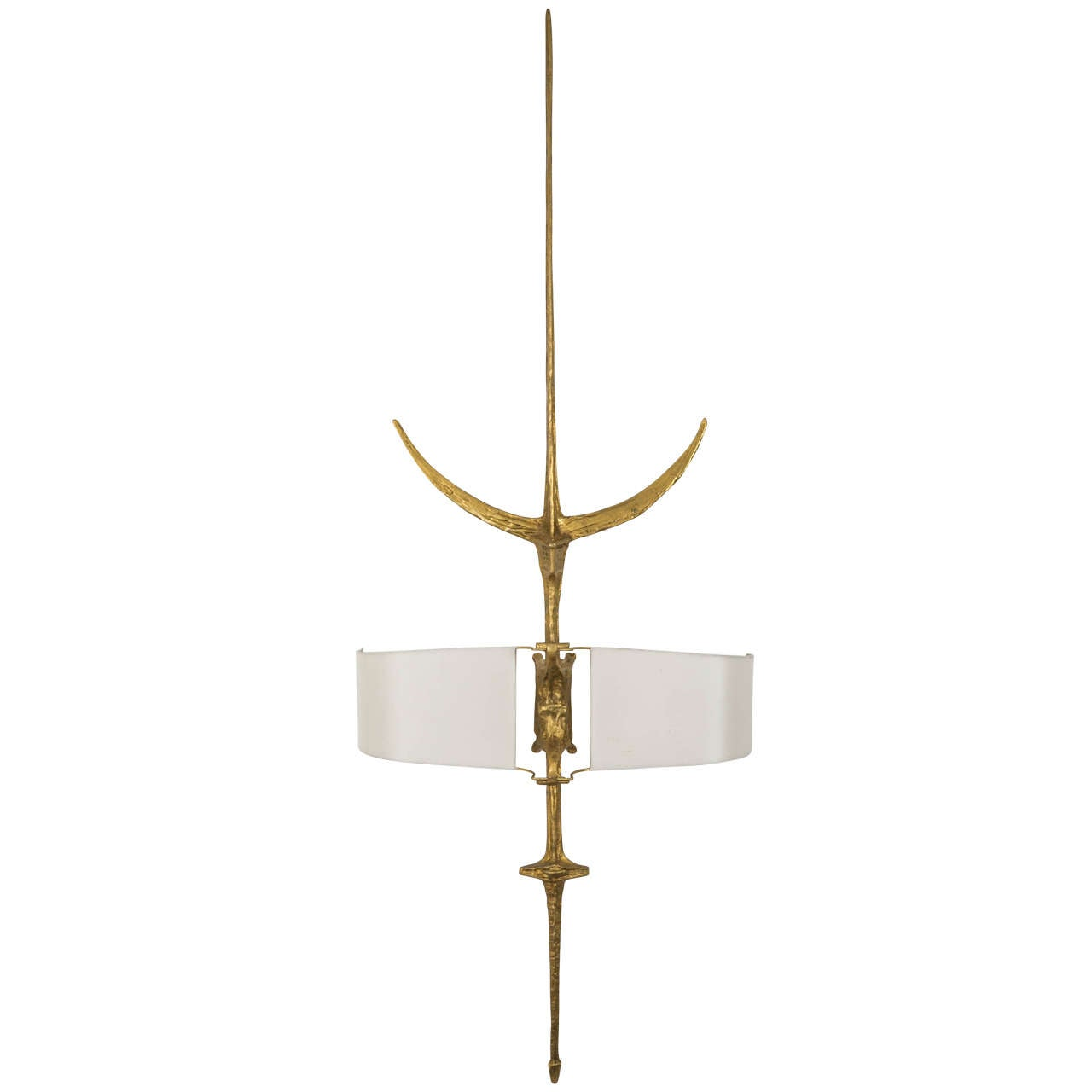 Bronze Wall Sconce, circa 1960s by Felix Agostini For Sale at 1stdibs