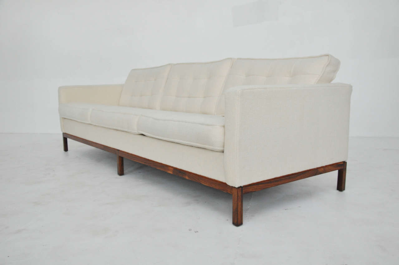 Florence Knoll Sofa On Rosewood Base For Sale At 1stdibs