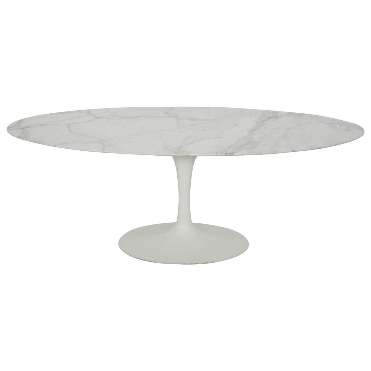 Eero Saarinen Oval Marble Dining Table At 1stdibs