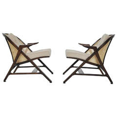 Dunbar A-Frame Chairs by Edward Wormley