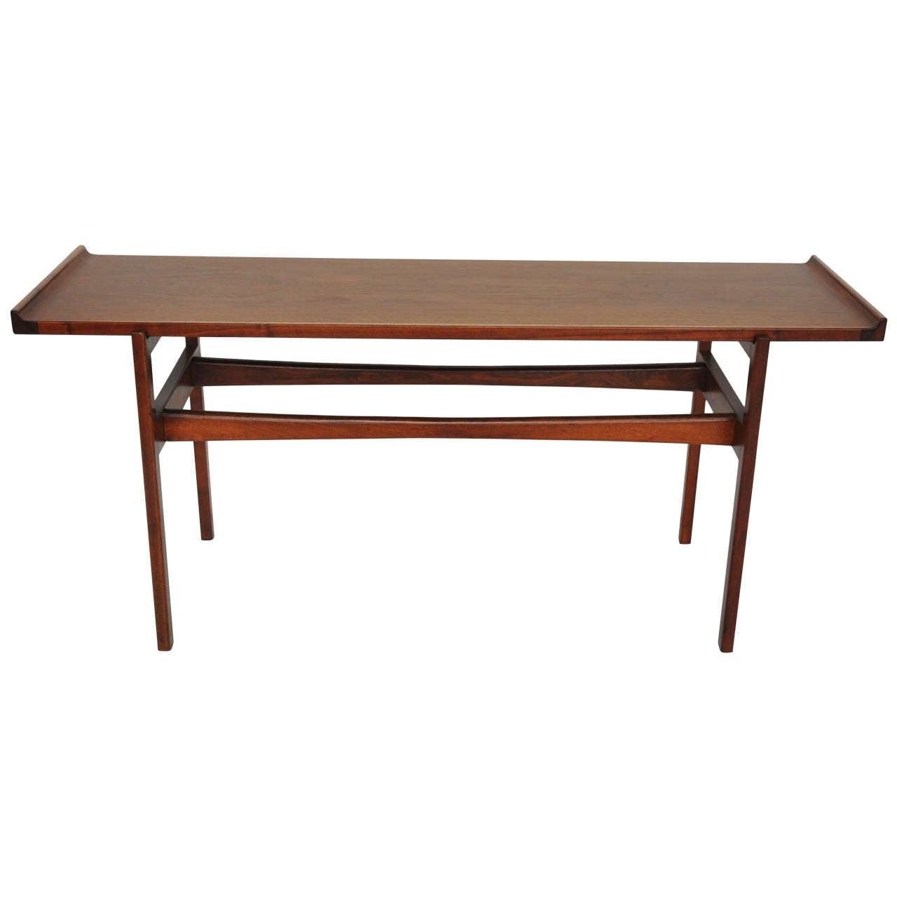 Jens risom walnut console table at 1stdibs jens risom walnut console table 1 geotapseo Choice Image