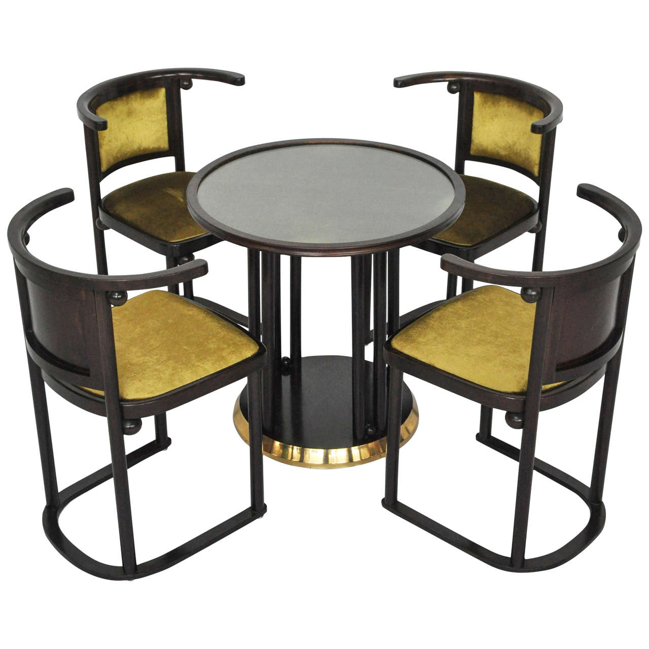 Josef Hoffmann Quot Fledermaus Quot Table And Chairs At 1stdibs