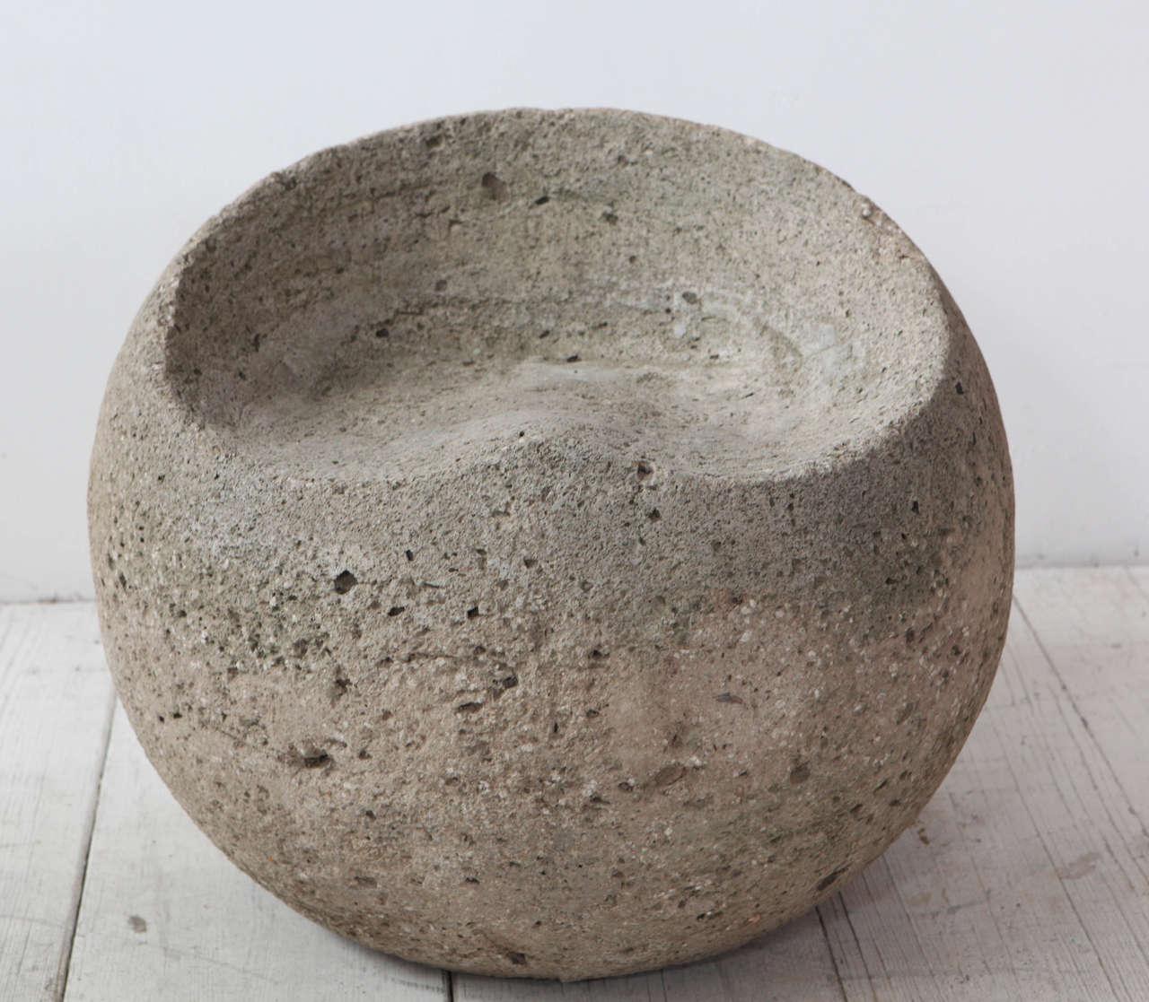 Carved Vintage Concrete Outdoor Sphere Stools At 1stdibs