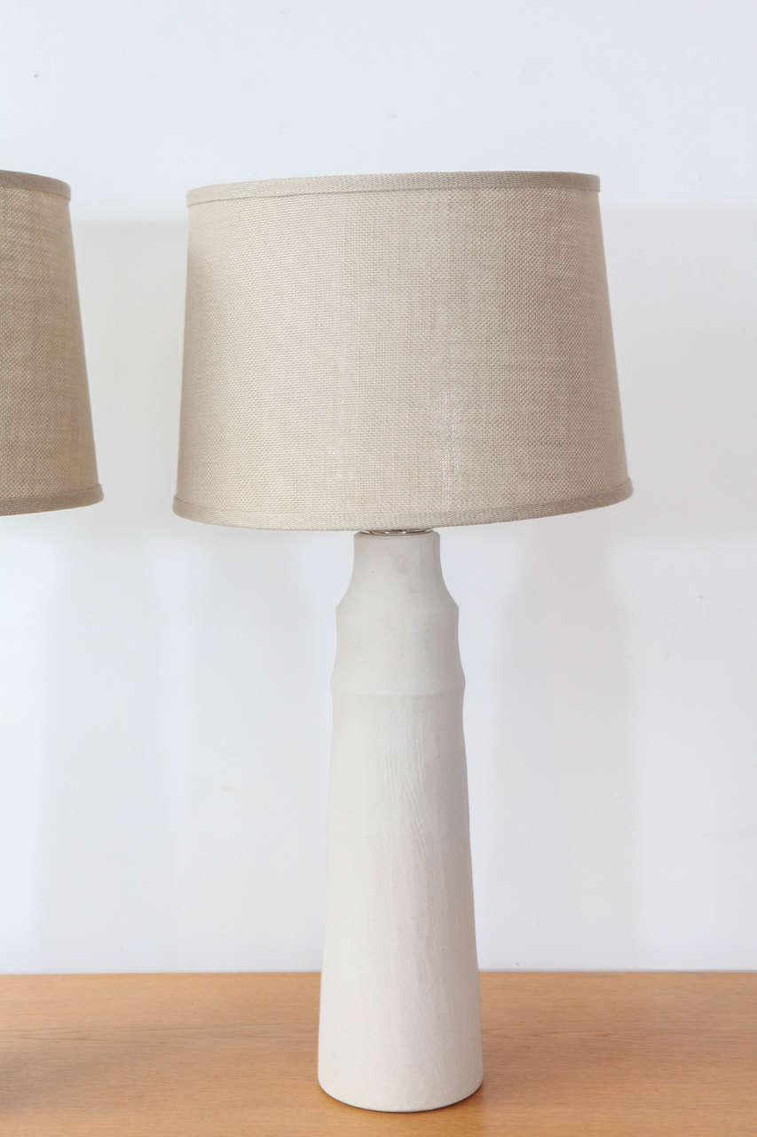American Mirena Kim Handmade Ceramic Table Lamps For Sale