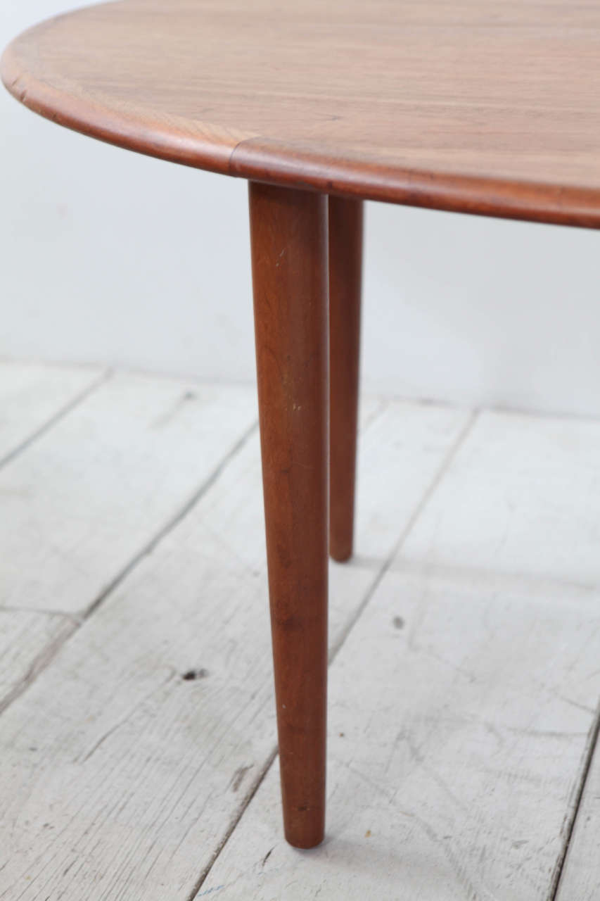 Danish Tall Oblong Mid-Century Modern Coffee Table For Sale