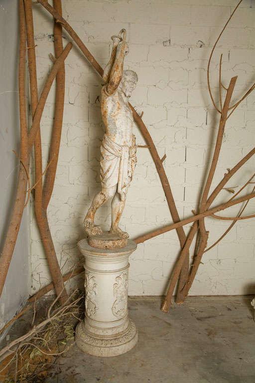 Cast Iron Statue of a Nubian Figure For Sale 1