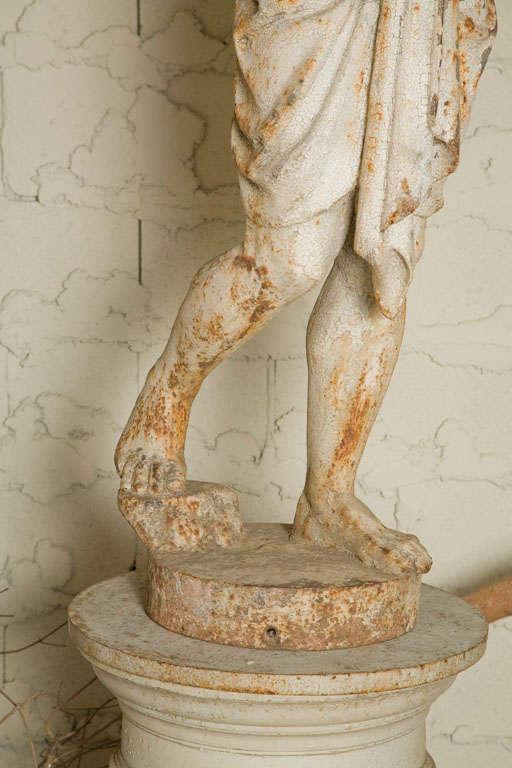 Cast Iron Statue of a Nubian Figure For Sale 2