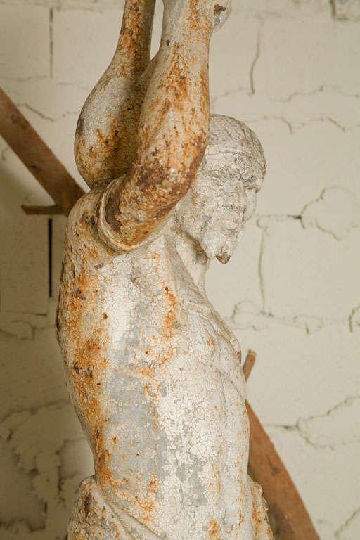 Cast Iron Statue of a Nubian Figure For Sale 4
