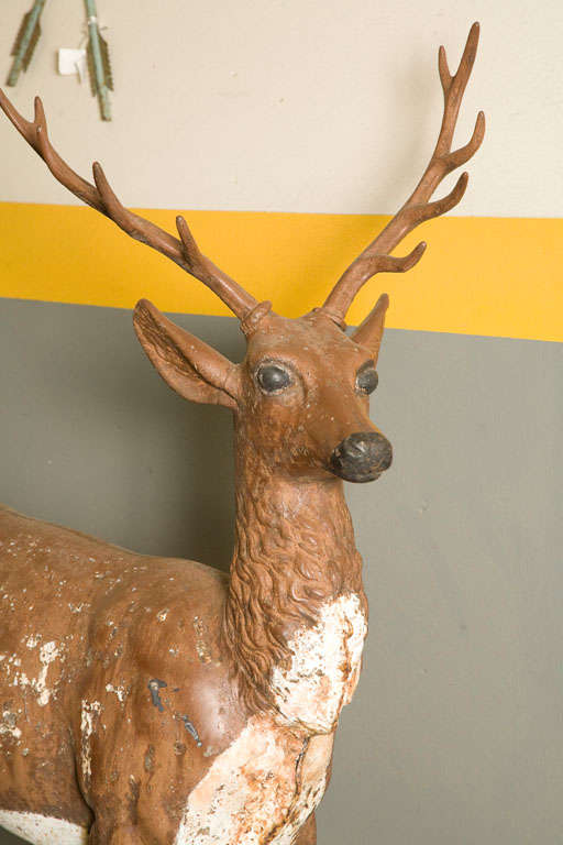 Standing Stag Labelled J.W. Fiske For Sale 1