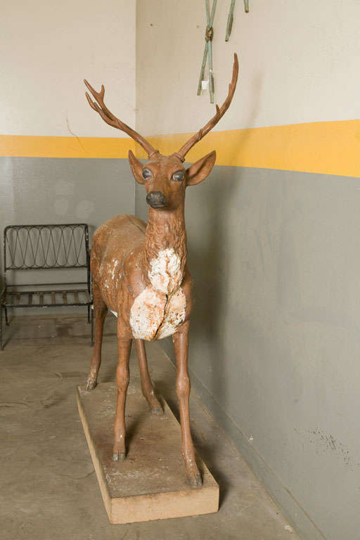 Standing Stag Labelled J.W. Fiske For Sale 2