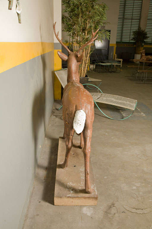 Standing Stag Labelled J.W. Fiske For Sale 3