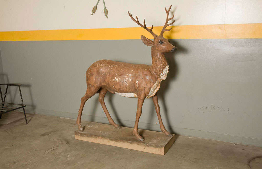 Standing Stag Labelled J.W. Fiske For Sale 4