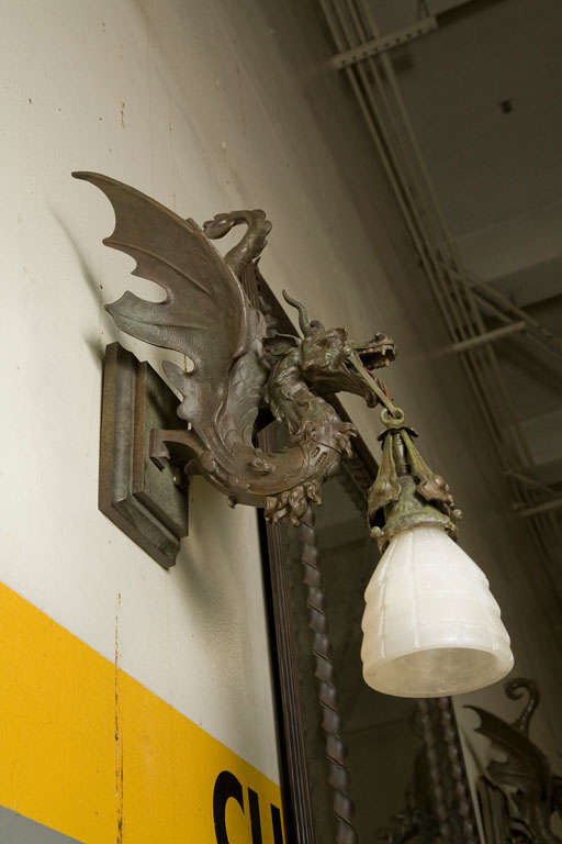 Pair Of Dragon Sconces At 1stdibs