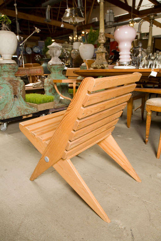 Pine Pair of Plywood Chairs For Sale
