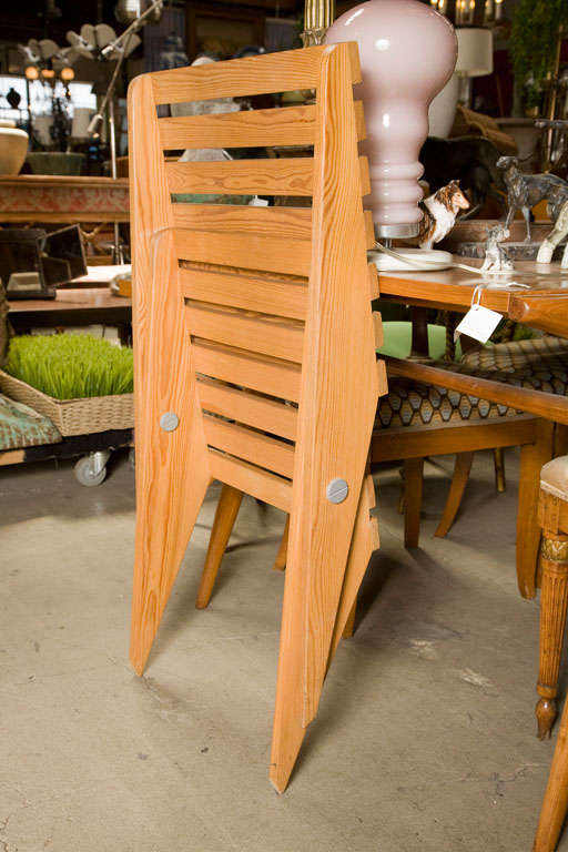 Pair of Plywood Chairs For Sale 2