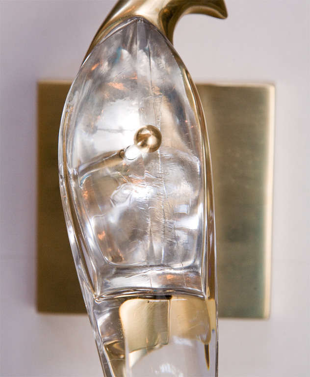 Crystal Bird Wall Sconces : Crystal Bird Sconces at 1stdibs