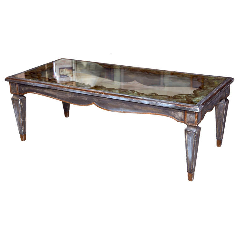 Silver And Gilt Wooden Coffee Table At 1stdibs